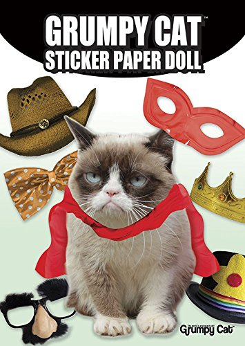 Damen Doll Kostüm Paper - Grumpy Cat Sticker Paper Dolls