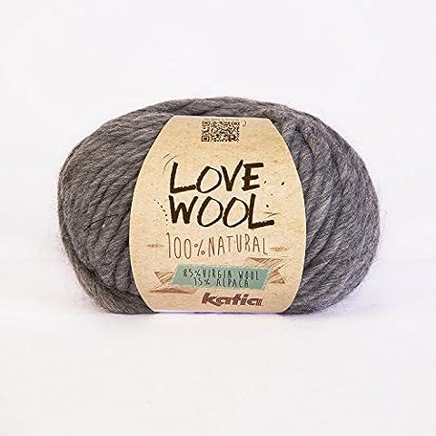 Katia Amour Laine # 106Super Grosse Aiguilles de 12–15mm 85% 15% de laine d'alpaga Pelote de 100g