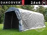 Dancover Lagerzelt Zeltgarage Garagenzelt PRO 2,4x6x2,34m PE, Grau