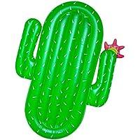 DMGF Piscina Inflable Flotante Cactus Giant Drifter Mat Con Válvulas Rápidas Al Aire Libre Verano Portable Water Sport Lounge Juguete Tumbonas Y Flotadores Playa Para Adultos Niños