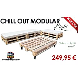 Chill out Light modular palets para jardín y terraza (Palet madera natural)