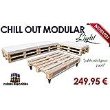Chill out Light modular palets para jardín y terraza (Palet madera natural)