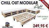 Chill Out Light Modular Paletten für Garten und Terrasse Holzpalette Natur