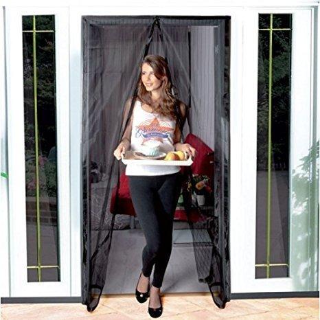 Dayiss® zanzariera con velcro per porte a strisce magnetiche maurer 120x240 cm