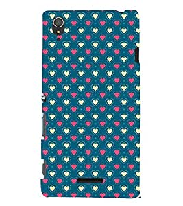 Fantastic Heart Design 3D Hard Polycarbonate Designer Back Case Cover for Sony Xperia T3