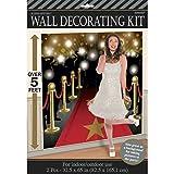 NET TOYS Wandbild Hollywood Party Wanddekoration VIP 82,5 x 165 cm Fotowand Roter Teppich Scene Setter Oscar Verleihung