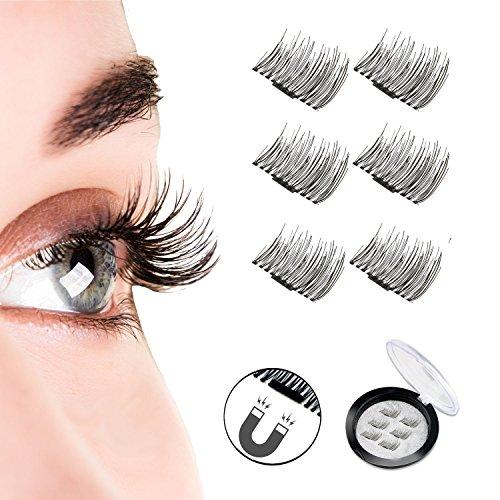 a28e5b09e9f Magnetic Eyelashes, Reusable False Eyelash, 1 Pairs 6 Pieces One Two Lash  Handmade 3D