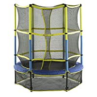 "Upper Bounce 55"" Kid-Friendly Trampoline & Enclosure Set equipped with Easy Assemble Feature"