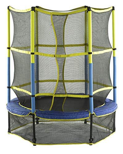 Upper Bounce UBSF01-55 Kinder Trampolin, Blau/Gelb/Schwartz, 140 cm