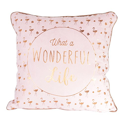 THE HOME DECO FACTORY Coussin Déhoussable, Polyester, Rose, 40 x 10 x 40 cm