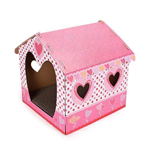 Katzenhaus Für Draußen, Lifet Katzenhöhle Faltbar Hautier Haus Mit Abnehmbarem Weich Und Warm Für Hund Katze Hündchen Kaninchen, 35,6 X 36 X 41 Cm