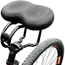 Sella della bici,Sedile Bicicletta con cuscinetto in gel per una seduta sul sellino più confortevole,Sella per bici con imbottitura,Per uomo donna