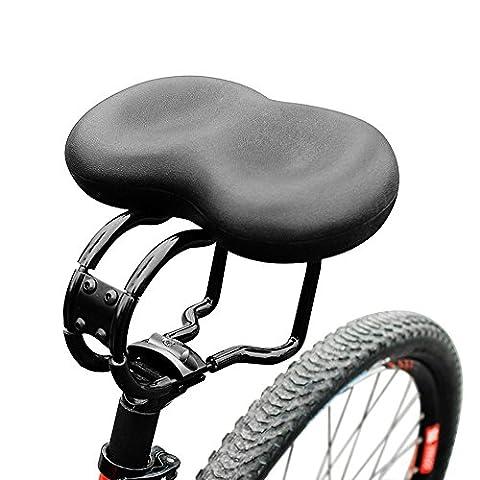 hokonui New Stoßdämpfung Mountain Bike Sattel breit Big Bum Extra Comfort Soft Pad Sattel Sitz mit Ellenbogen festen Rahmen Design, perfekt für Damen/Herren Radfahrer