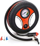 KINGREX Portable Electric Mini DC 12V Air Compressor Pump for Car & Bike Tyre Tire Inflator Pump for Car and Bike Tyre…