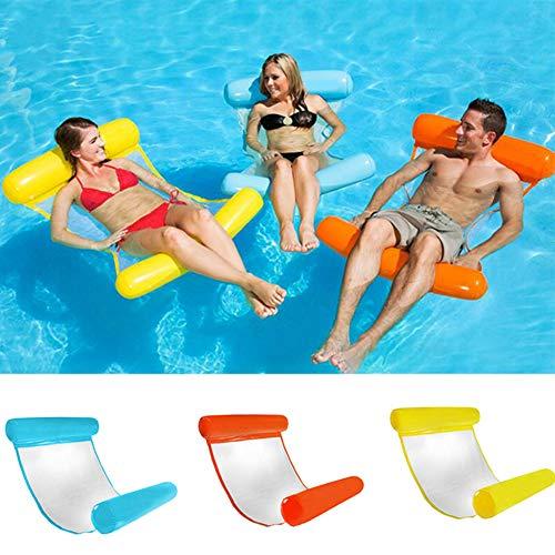 YIFEIKU Co.,Ltd. Pool Inflatable Float Hammock Fun Water Chair Portable Pool Lounge Kids Adults (Sky Blue)