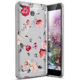 Surakey Compatible avec Coque Xiaomi Redmi Note 4,Étui Xiaomi Redmi Note 4X Ultra Léger Transparent Silicone Gel TPU Souple Housse Étui Coque de Protection Bumper et Anti-Scratch, Fleur Rose
