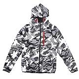 OULII Mens Outdoor Camouflage Hoodie Mantel Reißverschluss Sweatshirt Jacke Outwear Größe XL