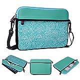 Kroo Tablet/Laptop Hülle Sleeve Case mit Schultergurt für Huawei MediaPad T110.0LTE grün blaugrün