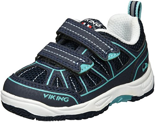 Viking - Hugin, Scarpe sportive outdoor Unisex – Bambini Blau (Navy/Green)