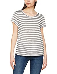 VERO MODA Damen T-Shirt Vmkaya Ss V-Neck Top Jrs