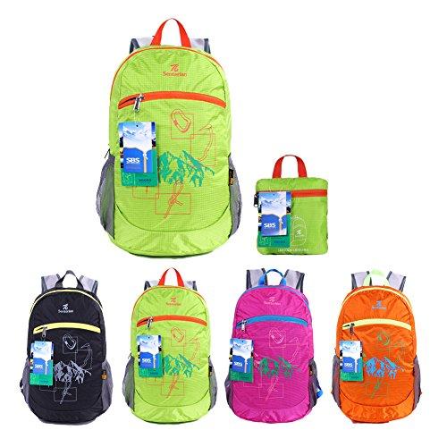 EGOGO wasserdicht faltbare stopfbare Wandern Reisen Rucksack School Tasche Rucksack für Mädchen, jungen, College-Studenten-S2016
