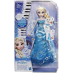 Disney La Reine des Neiges - Poupee Princesse Disney Elsa Robe Musicale - Version française - 30 cm - Exclusivité Amazon
