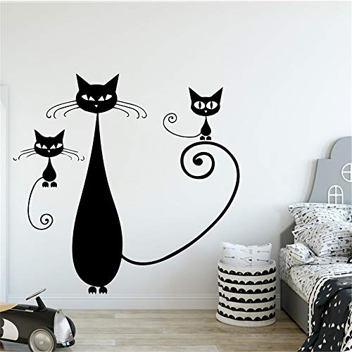 Espresso-fliesen-böden (yiyiyaya Katze Vinyl Küche Wandaufkleber Tapete Für Wohnzimmer Kinderzimmer Aufkleber Kreative Aufkleber rot XL 58 cm X 57 cm)