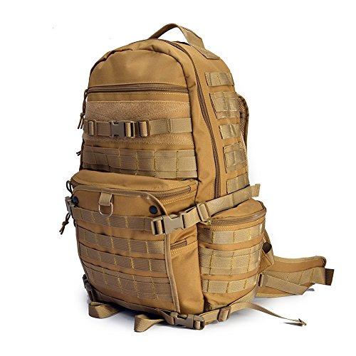 YAKEDA® Außen Molle Waterpoof Rucksack militärischer taktischer Rucksack für Armee Camping Wandern Trekking Bag Outdoor Reiserucksack - A88048 (Khaki) Khaki