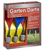 Dartspiel für den Garten, Lustiges Rasendart mit 4 Sicherheitspfeilen, Zielring, Pfeile 29cm,...
