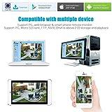 ieGeek 1080P Überwachungskamera, Sony 2 MP Objektiv HD IP Kamera, LAN & Wlan Sicherheitskamera für Außen Wasserdicht, Unterstützung FTP, Email, IR Nachtsicht, Bis zu 128GB SD Karte, Schwarz - 9