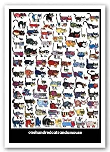100 Cats and a Mouse by Vittorio Art Print Poster