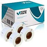 specmark 4 Etiketten-Rollen für DYMO 99017 12mm x 50mm S0722460 220 Stück kompatibel zu allen Etikettendruckern Label-Writer 450 4XL Seiko-SLP