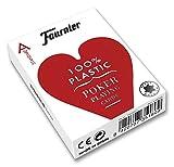 Fournier Nº 2500 Plástico Baraja de Poker Profesional Calidad Casino, Color Rojo/Azul (1028934)