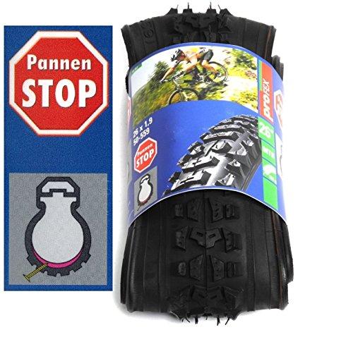 """2 Stück 26"""" Zoll MTB Fahrrad Falt Reifen Mantel 50-559 Pannen Stop Schutz 26 x 1.9"""