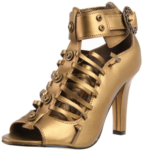Demonia Steampunk Pumps TESLA-05 - Bronze 36 EU