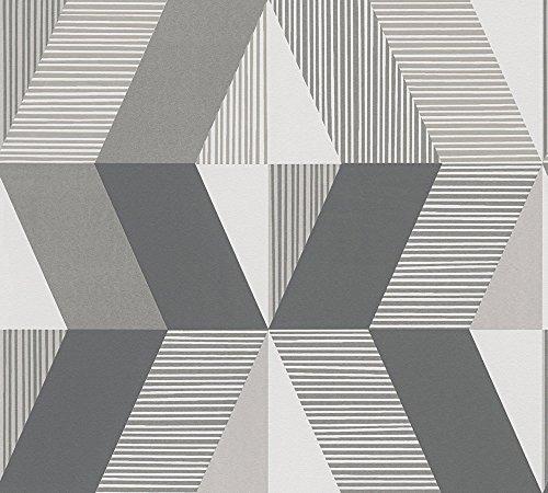 Metropolis by Michalsky Living Vliestapete Chelsea Tapete grafisch 10,05 m x 0,53 m beige braun creme Made in Germany 303951 30395-1 -