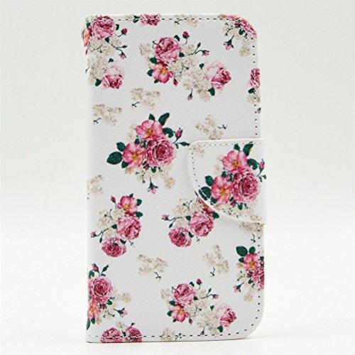 KATUMO® Coque Smartphone Nokia Lumia 630/635, Etui Portefeuille Nokia Lumia 635 Pochette Flip Cover Etui Portable Housse de Protection-#2Fleur