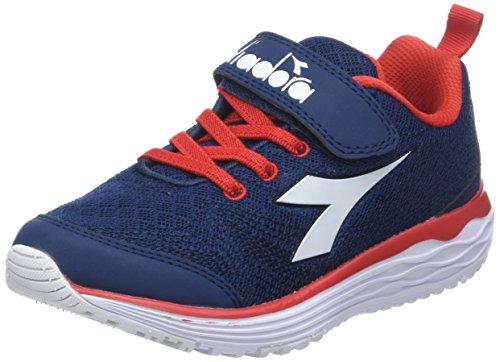 Diadora flamingo jr, scarpe da running bambino, blu (blu classico bianco), 32 eu