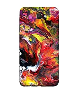 PrintVisa Designer Back Case Cover for Samsung On7 (2016) New Edition For 2017 :: Samsung Galaxy On 5 (2017) (Red Yellow Black White Multi )
