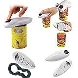 Apriscatole elettrico, professionale apriscatole professionale automatico a bottone, funzionamento a batterie, gadget da cucina per gli anziani.