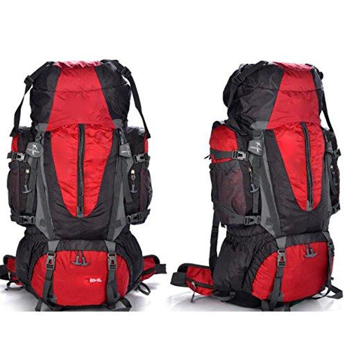 Wandern Und Rucksack Camping Und Wandern Klettern Regenschutz Staubdicht Multifunktions-Funktion,Green Red