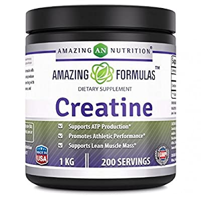 Amazing Nutrition Creatine Powder - 1 KG (2.2 Lb), 200 Servings from Amazing Nutrition