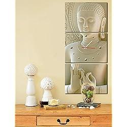 reloj de pared de Buda de estilo moderno en el conjunto de la lona de 3