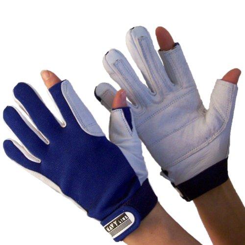 Navyline Segelhandschuhe Super Soft - 2 Finger geschnitten, Größe:M