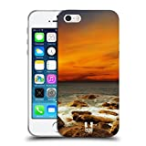Head Case Designs Roter Himmel Steiniges Meeresufer Wundevolle Strände Soft Gel Hülle für Apple iPhone 5 / 5s / SE