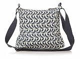 Shruti Designs Dove Collection Denim Blue Canvas Sling Bag