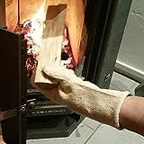 Grillhandschuh Baumwolle doppelseitig hitzebeständig extra lang, Grill Kamin Ofen Handschuhe Backblech (1)