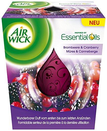 AirWick Wohlfühl Duftkerze Brombeere und Cranberry, 3er Pack (3 x 105 ml)