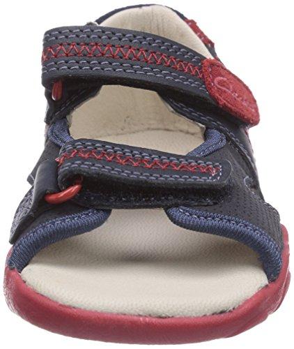 Clarks SoftlyRhys Fst, Sneakers basses garçon Bleu - Blau (Navy Combi Sde)