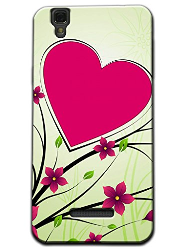 Kaira Brand High Quality Designer Soft silicon Back Case cover(Transparent) For Micromax Yu Yureka Mobile (Heart With Leaf)